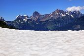 Hiking Snowfields Red Mountain Artist Point Glaciers Washington