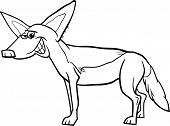 picture of jackal  - Black and White Cartoon Illustration of Funny Jackal Wild Animal for Coloring Book - JPG