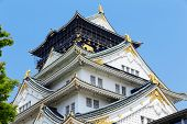 Osaka castle city in japan at day