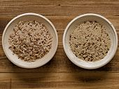 Rustic Cooked And Uncooked Unpolished Brown Rice
