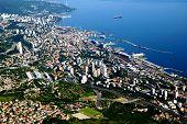 Bird Eye View Of Rijeka And Adriatic Sea,croatia