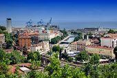 Panoramic View Of Rijeka And River Rjecina Sea Estuary
