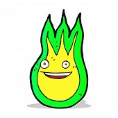 image of fireball  - cartoon friendly fireball - JPG