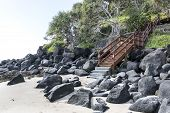 Gold Coast Greenmount stairs to beach