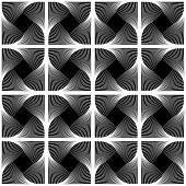 Design Seamless Swirl Movement Geometric Pattern