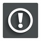 Attention sign icon. Exclamation mark.