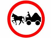 prohibition sign horse-drawn