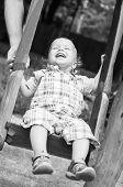Laughing Toddler Boy Riding