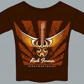 Rock fan tee shirt