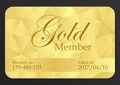 stock photo of exclusive  - Luxury gold member card with triangle pattern - JPG