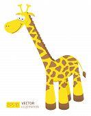 Smiling cartoon giraffe illustration