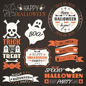 Halloween vintage set - labels, ribbons