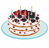 Birthday Cake - Illustration