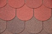 picture of red roof tile  - Soft roof roof tiles - JPG
