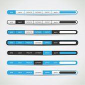 Navigation bar set for websites or for other user interfaces - vector illustration