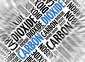 Marketing background - Carbon Dioxide - blur and focus
