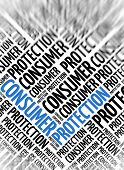 Marketing background - Consumer Protection - blur and focus