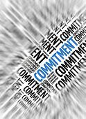 Marketing background - Commitment - blur and focus
