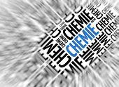 German marketing background - Chemie (Chemistry) - blur and focus