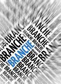 German marketing background - Branche (branch) - blur and focus