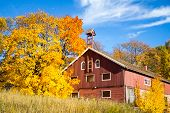 Autumn Colors And An Old Barn