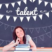 The word talent and bunting against student thinking in classroom