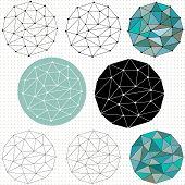 Geometric Circular Grid Shapes
