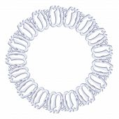 round frame on a white background - silver chain, religious symbol Islam
