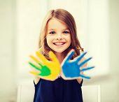 pic of little school girl  - education - JPG