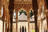 Columns in Alhambra, Spain