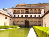 Patio in Alhambra, Granada, Spain