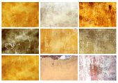 Collection textures of stucco