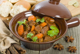 pic of cassia  - Bo Kho - Vietnamese beef stew cooked with lemongrass, star anise, bay leaf and cassia bark served with crusty bread.
