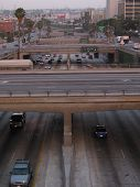 freeway and bridges in downtown los angeles