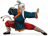 stock photo of guru  - Old warrior - JPG