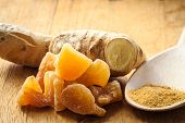 picture of home remedy  - Three kinds of ginger  - JPG