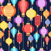 Pattern Chinese Lanterns