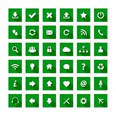 Square Long Shadow Style Icons