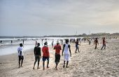 Ghanaians On The Beach For The May 1St, Labour Day Holiday
