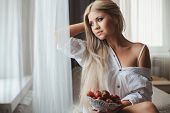 stock photo of strawberry blonde  - Young woman  - JPG