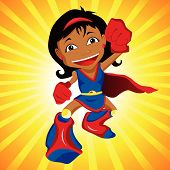 image of superwoman  - Black Super hero Girl - JPG