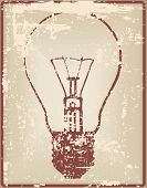 Vintage Card With Light Bulb