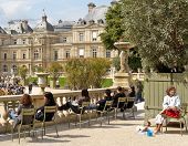 People In Luxembourg Gardens, Paris