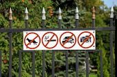 Russia. Tambov. Prohibiting Signs On The Fence Kazan Monastery