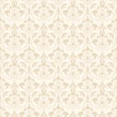 pic of damask  - Vector damask seamless pattern background - JPG