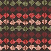 Abstract Traditional African Ornament. Warm colors. Seamless vector pattern.