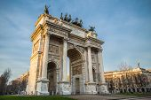 Arch of Peace in Sempione Park, Milan, Italy