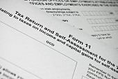 Irish Tax Form. Personal Income Tax Form.
