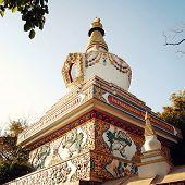 Small Stupa In The Swayambhunath Temple - Vintage Filter.