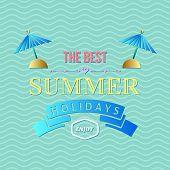 Summer Holidays Typography